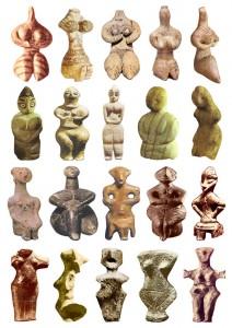 Неолитические фигурки матерей-богинь из разных регионов мира. 5300-4200 гг. до н.э.