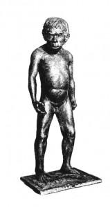Мальчик из погребения Тешик-Таш. Реконструкция Герасимова М.М.