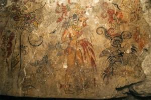 Деталь священной фрески из Сан-Бартоло. Ок. 150 г. до н.э. Картина, изображает рождение космоса и доказывает божественное право правителя.