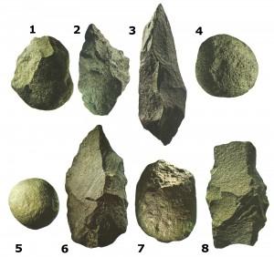 Орудия труда, которые изготовлялись в олдувайскую эпоху.