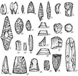 Каменные орудия неолита: