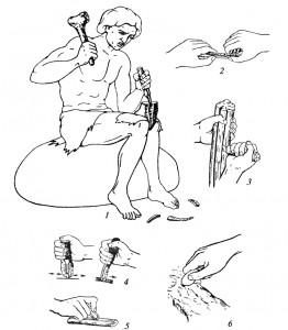 Изготовление и использование верхнепалеолитических кремневых орудий
