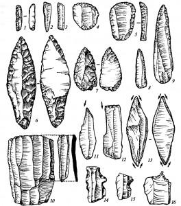 Каменные орудия верхнего палеолита