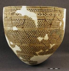 Сосуд культуры ямочно-гребенчатой керамики. Неолит