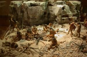 Реконструкция жизни первобытных людей. Музей Терра-Амата (Ницца, Франция).