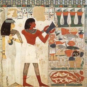 Фреска из гробницы египетского чиновника Нахта, астронома Тутмоса IV. Около XV в. до н.э.