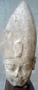 Голова фараона Яхмоса I. Известняк. Ок. 1525 г. до н.э.