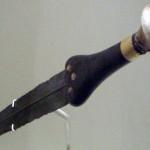 Бронзовый кинжал, с именем Яхмоса I на рукояти.