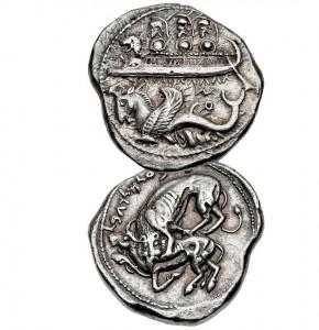 Серебряная тетрадрахма (Библ). Ок. 554-544 гг. до н.э