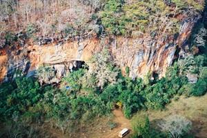 Вид на массив Лапа До Санто, где было обнаружена пещера.