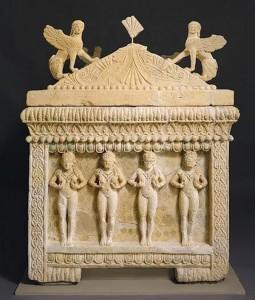 Финикийский саркофаг из Аматуса (Кипр). Сер. V в. до н.э.