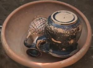 Керамика, найденная в некрополе