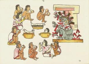 Картина ритуального каннибализма из Кодекса Мачибелачиано