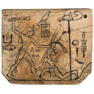Костяная бирка с ремешка. Фараон Ден - I династия.