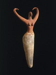 Терракотовая фигурка женщины.