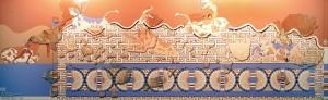Восстановленная фреска из Авариса, напоминающая фрески Кносского дворца.