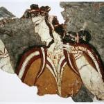 Фреска, изображающая женскую фигуру