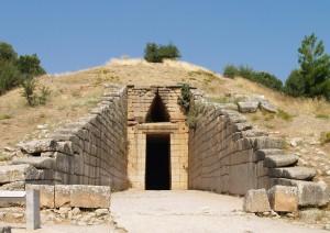 Вход в гробницу Атрея.