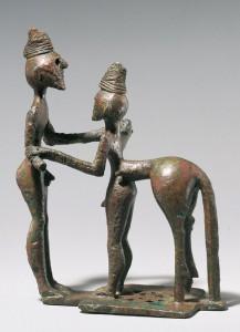 Кентавр и человек. Бронза. VIII в. до н.э.