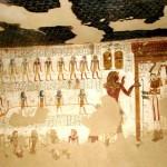 Стены гробницы Ментептаха в Луксоре.