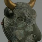 Ритон в виде головы быка. Хлорит