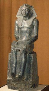 Статуя Аменемхета III (XIX в. до н.э.) Порфир. Высота 86,5 см.