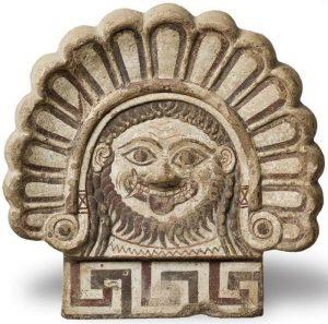Этрусский антифекс с изображением головы Медузы Горгоны. IV в. до н.э.