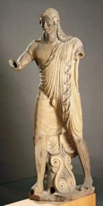 Статуя Аполлона из Вей. Глина. Около 500 г. до н. э. Рим. Вилла папы Юлия. Скульптор Вулка.