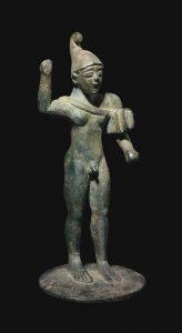 Этрусский воин. Бронза. Провинция Кампания 569-554 гг. до н.э.