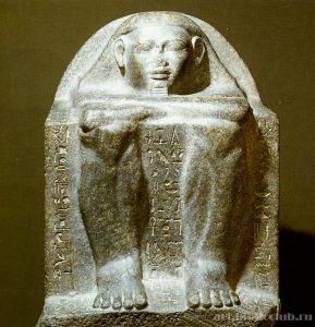 Кубовидная статуя Хетепа. XII династия.