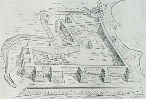 Крепость XII династии в Семне (Эфиопия). Реконструкция и план.