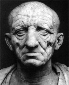 Бюст римлянина из Отриколи, который традиционно отождествляют с Катоном Старшим. 80-е гг. до н. э., Рим, музей Торлониа.