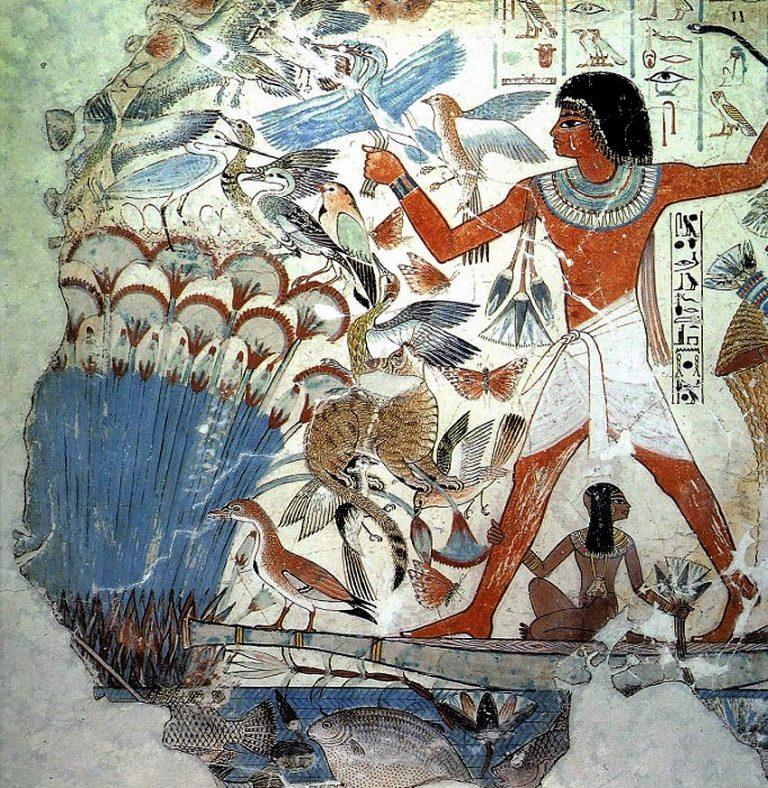 Сад росписи в гробнице небамона