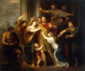 Возвращение Регула в Карфаген. Автор Андриес Корнелис, 1791 г. Хранится в Эрмитаже, Санкт-Петербург.