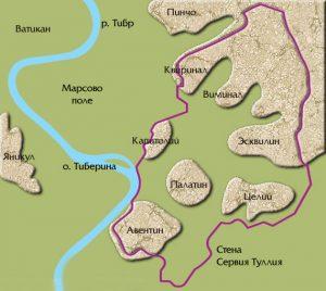 Холмы, на которых был возведен Рим.