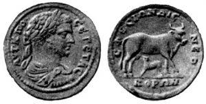 Тяжелый асс. Эфес. Гета, 211-212 гг. до н. э. Медь.