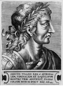Сервий Туллий - 6 царь Рима. Изображение XVI в., автор Франс Гюис, 1522-62 гг.