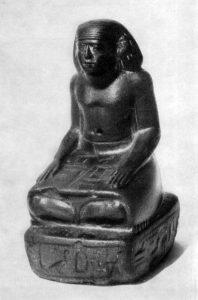 Статуэтка писца Ири. XII династия. Гранит. высота 16.8 см