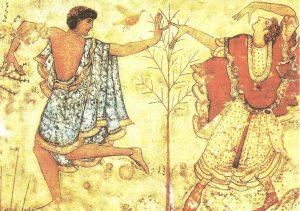 Танец. Фреска из этрусского некрополя В Тарквиниях. V в. до н.э.