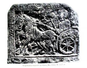 Рельеф IV в. до н.э. с изображением галльской колесницы, музей Падуи.