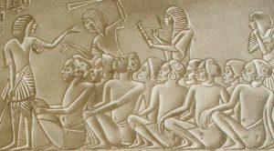 Пленные эфиопы (рабский рынок). Рельеф из гробницы царя Харемхеба. Египет. XIX династия.